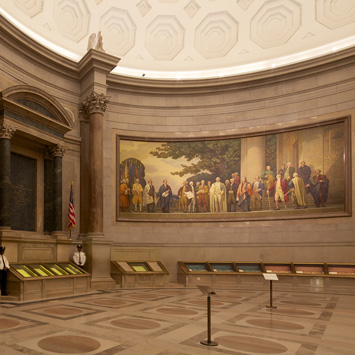 Inside Rotunda at the Archives