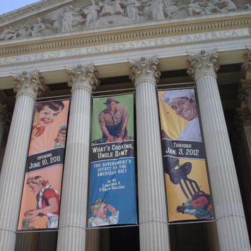 Banners at the Archives